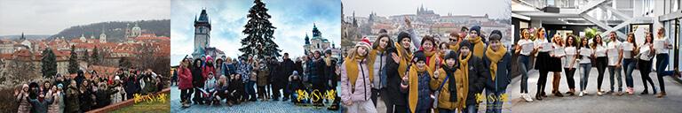 дети на фоне зимней праги eurostudy