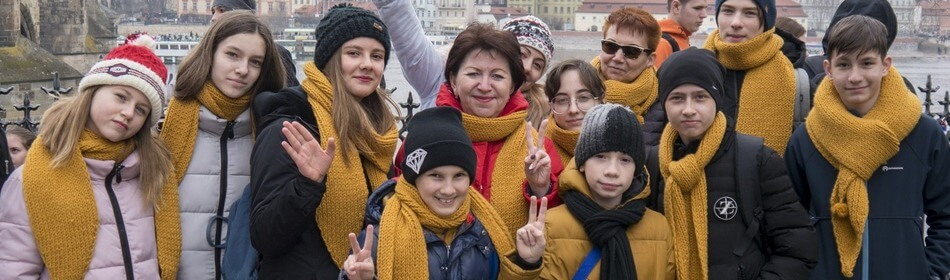 группа студентов на Карловом мосте eurostidy