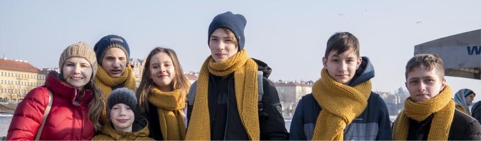 студенты на корабле на Влтаве eurostudy