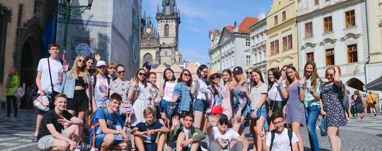 студенты на Старой Площади Прага eurostudy.cz