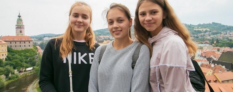 студентки ч Чески-Крумлов eurostudy