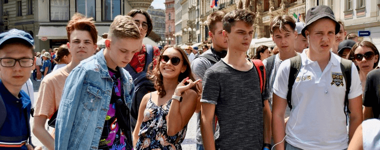 студенты в старом городе июль 2019 eurostudy