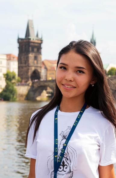 девушка в Праге eurostudy